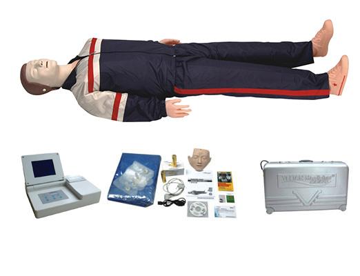 高级大屏幕液晶彩显全自动电脑心肺复苏模拟人